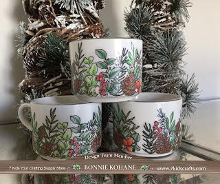 Stamped Holiday Mugs