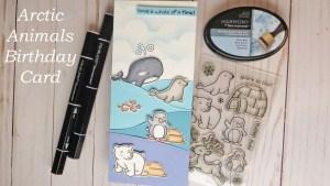 Arctic Animals Slim Birthday Card