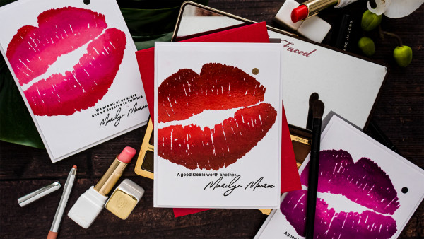 Valentine's Day Lips Cards