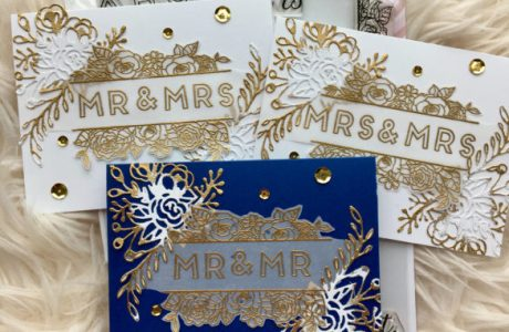 Gold Embossed Wedding Cards