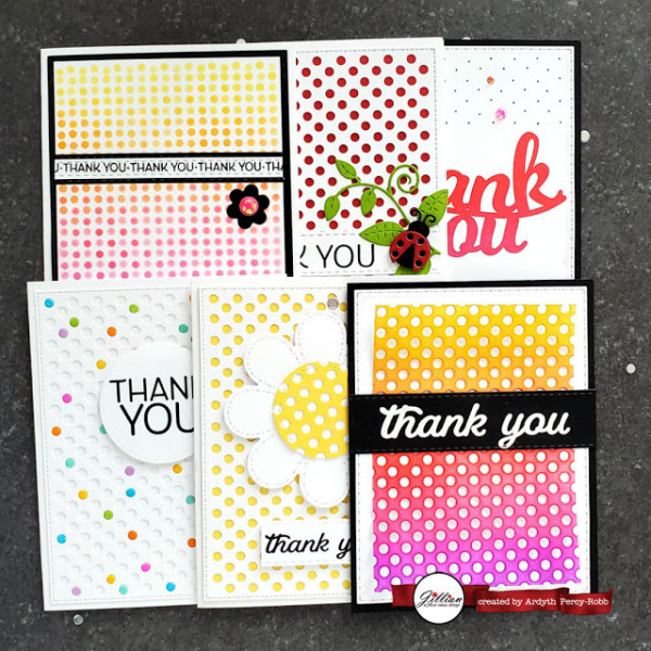6 Polka Dot Background Cards