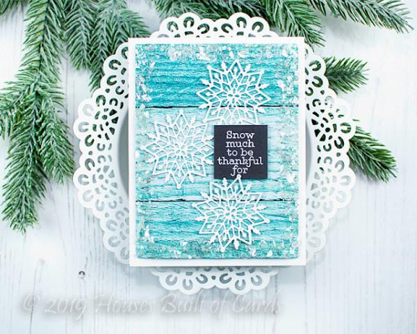 Thank You Snowflake Card