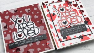 Foiled and Flocked Valentine Cards