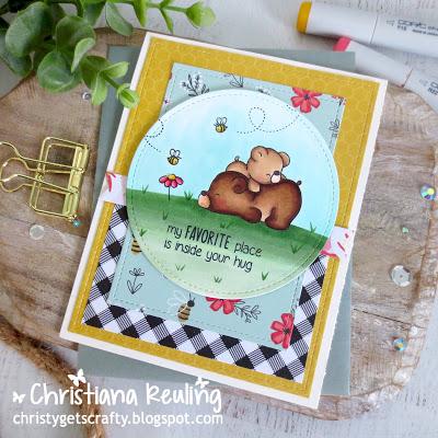 1 Stamp Set 4 Ways - Bear Cards