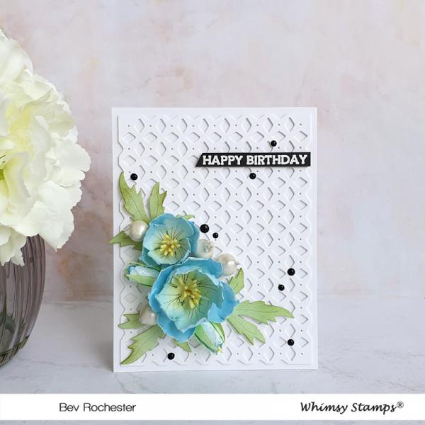 3D Flower and Lattice Card