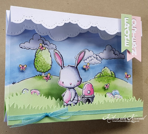 Easter Bunny Double Tent Card