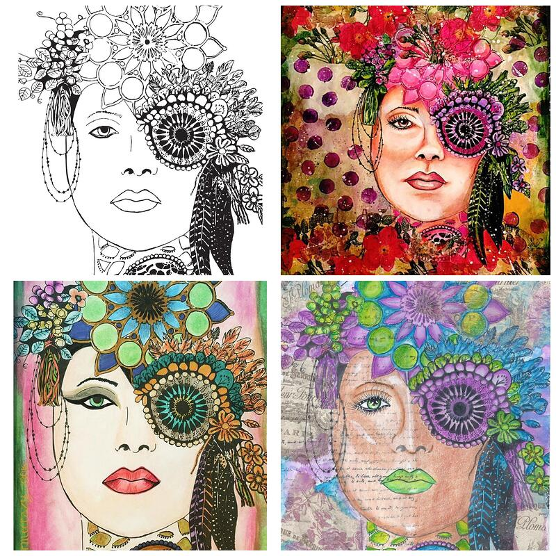 Artsy Face Coloring Page
