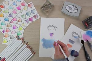 Into to Nuvo Watercolor Pencils
