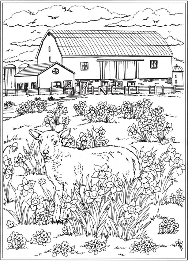 7 Spring Coloring Pages