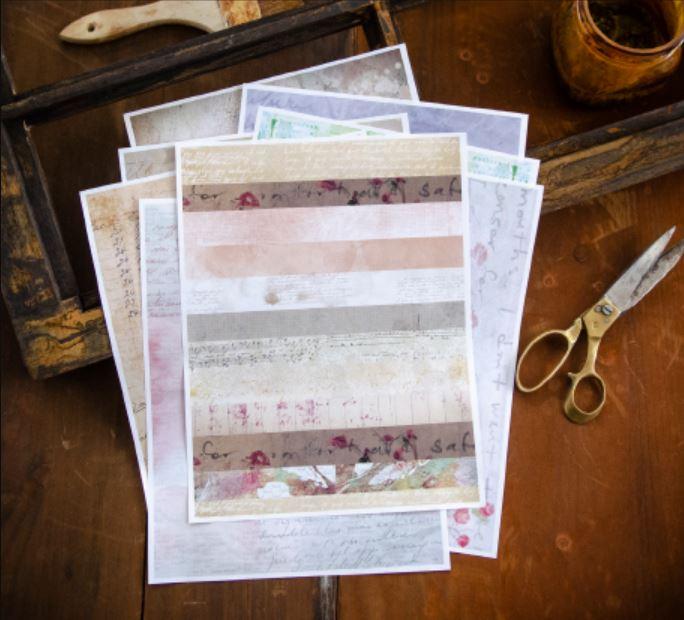 8 Artist Pattern Paper Printables