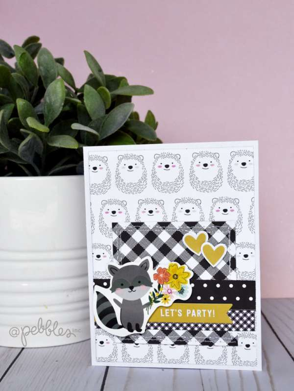 Simple Card Invites with Scrapbooking Supplies