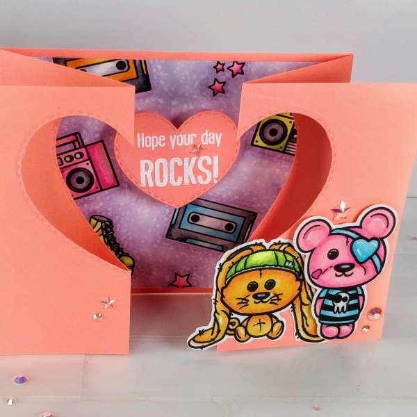 Rockin' Neon Gatefold Card