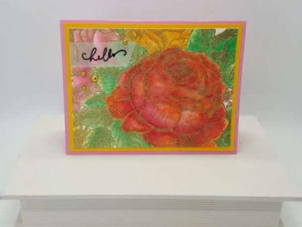 Vibrant Rose Card