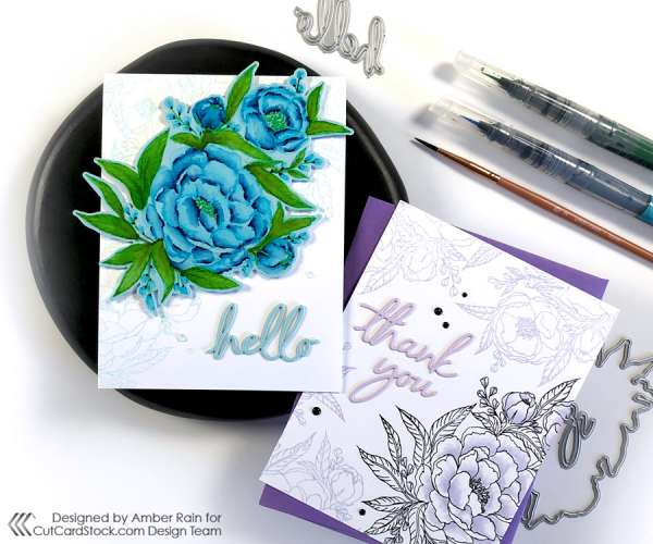 How to Watercolor on Colored Cardstock
