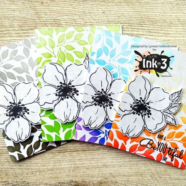 Colorful Card Backgrounds with Stencils