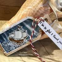 Ship in a Bottle Shaker Tag