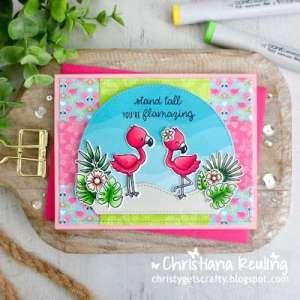 Summer Flamingo Card