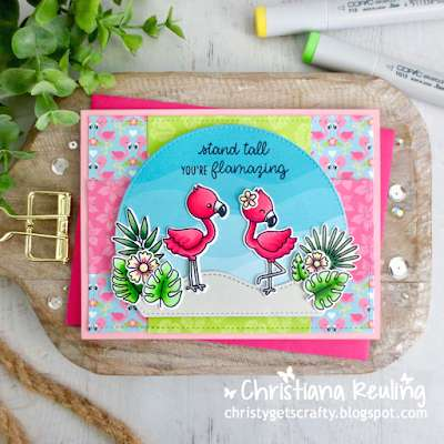 Summer Flamingo Card