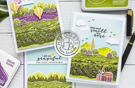 Landscapes with Layered Stamps