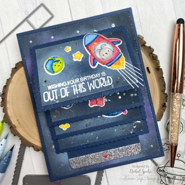 Outer Space Flipper Card