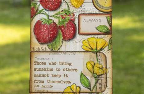 Vintage Strawberry Tag