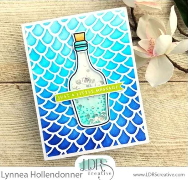 Message in a Bottle Shaker Card