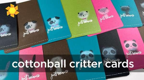 Cotton Ball Critter Cards