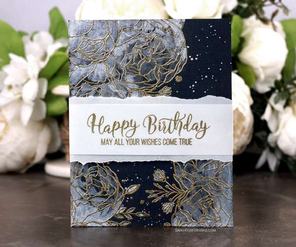 Metallic Watercolor Birthday Card