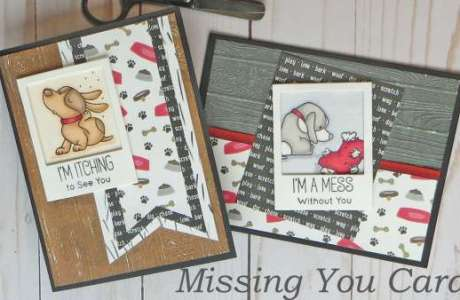 2 Masculine Missing You Cards