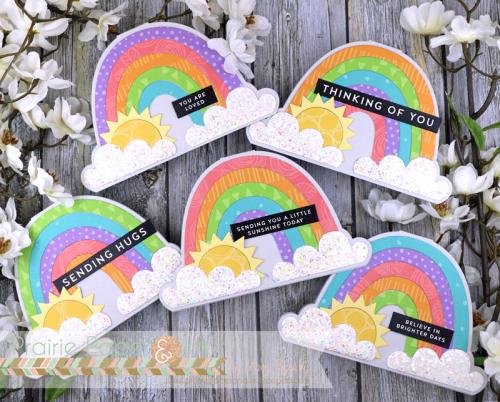 Rainbow Shaped Cards