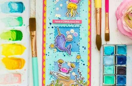 Underwater Slimline Shaker Card