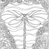 4 Dragonfly Coloring Pages
