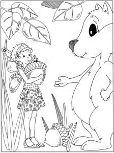 5 Fairy and Dragon Coloring Pages