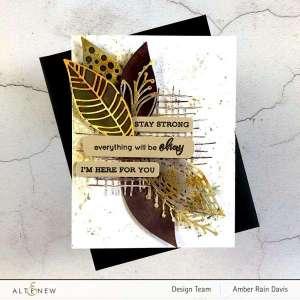 Watercolor Fall Leaves Card