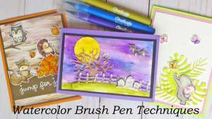 7 Techniques with Watercolor Brush Pens (and a Discount!)