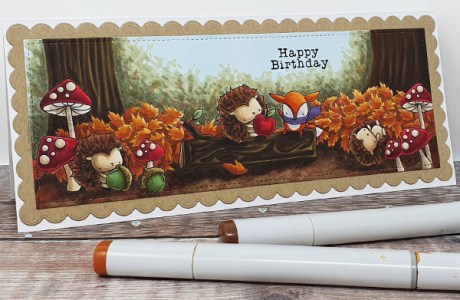 Woodland Animals Slimline Card