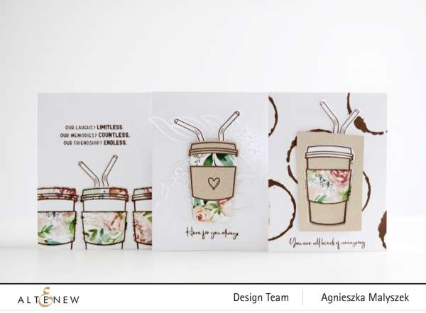3 Friendship Coffee Cup Cards
