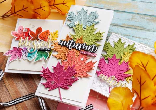 Colorful Autumn Leaves Cards