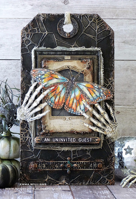 Halloween Mixed Media Tag