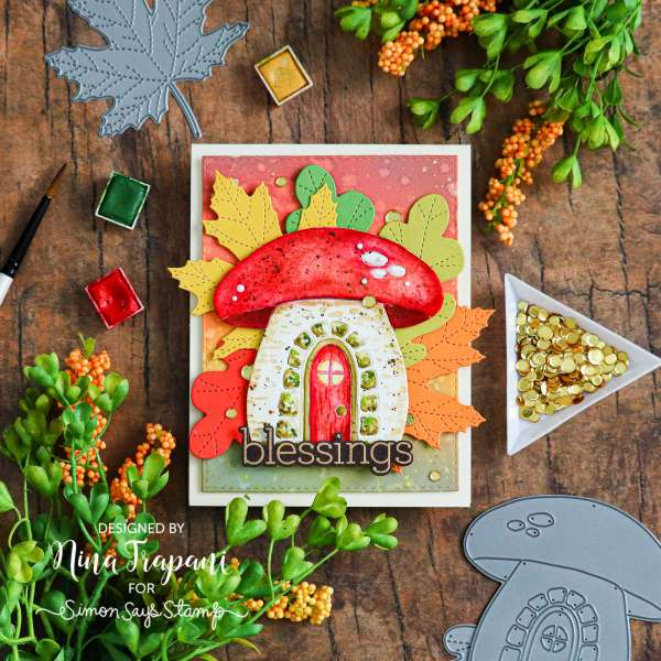 Fall Mushroom House Card
