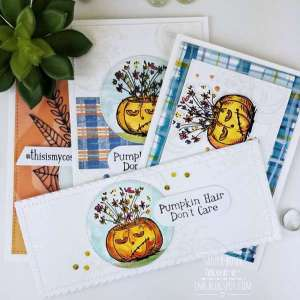 DIY Plaids for Pumpkin Cards