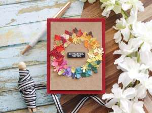 Fall Leaves Wreath Card