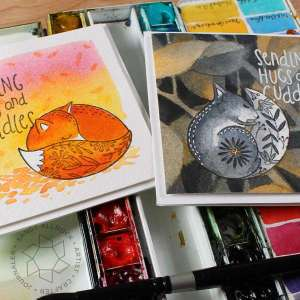 Fall Animals Watercolor Cards
