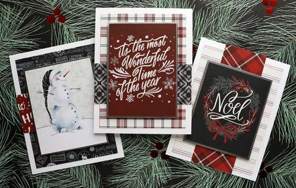 Quick Holiday Cards w/ Pattern Paper