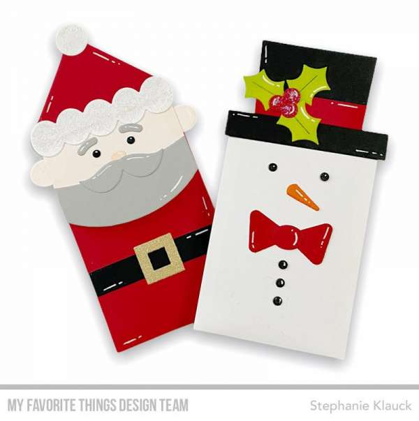 Snowman and Santa Gift Card Holders