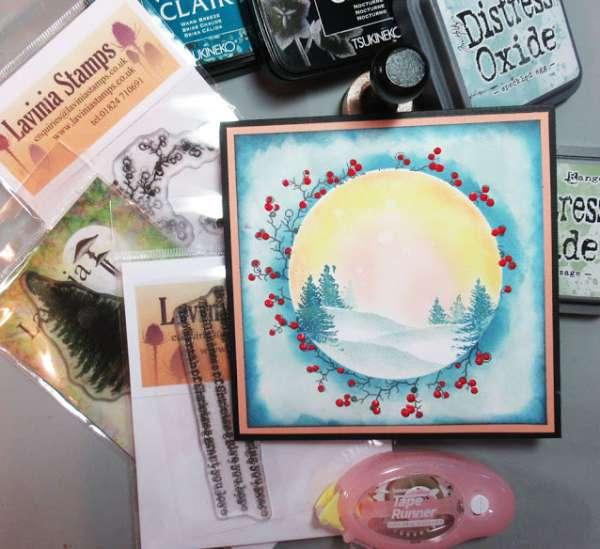 Snowy Glade Scene Card