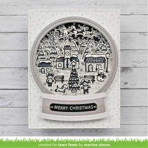 Black and White Snow Globe Card