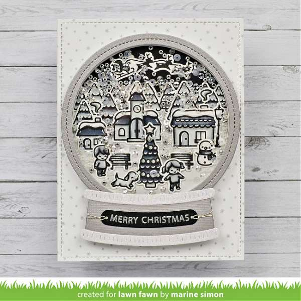 Black and White Snow Globe Card