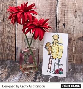9 Valentine Cards with 1 Stamp Set