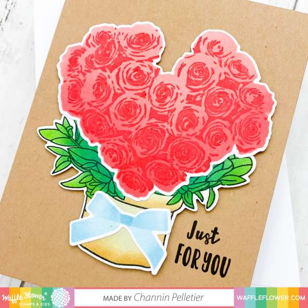Rose Bouquet Valentine Card